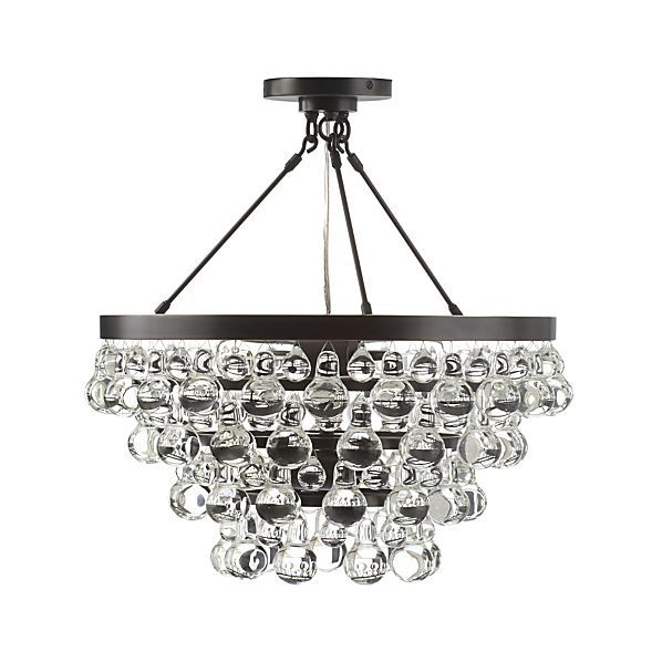 Lure Patina Bronze Chandelier   Crate and Barrel