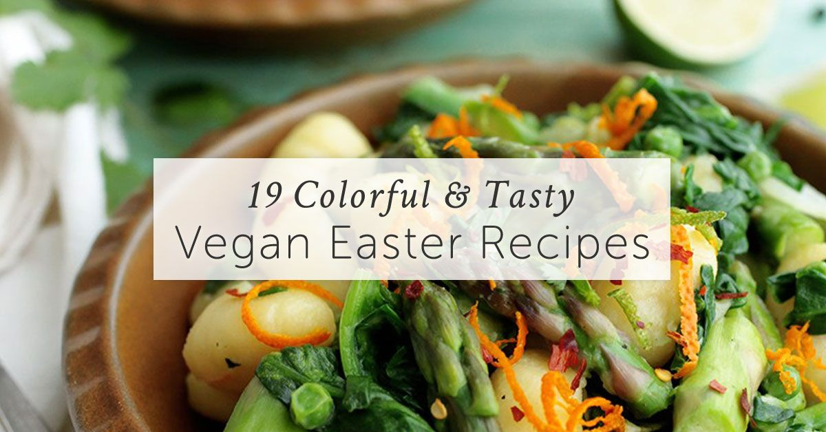 19 eggless vegan easter recipes for the whole family