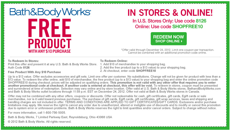 Any 13 Item Free With 10 Spent At Bath Body Works Or Online Via Checkout Promo Shopfree10 Coupon Free Printable Coupons Bath And Body Works Bath And Body