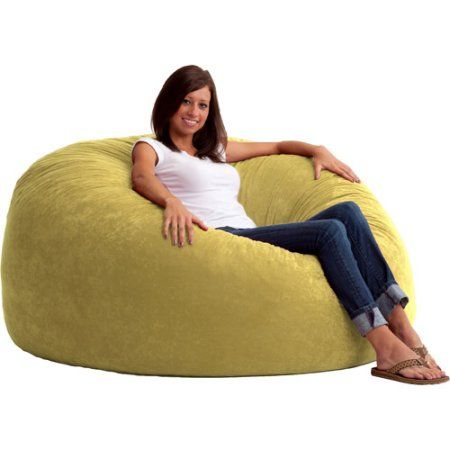 King 5 Fuf Comfort Suede Bean Bag Chair Multiple Colors Beige