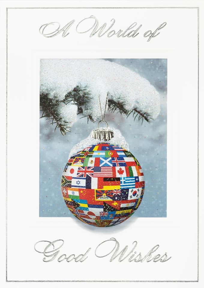 International Flags Ornament Holiday Card - International Flags Ornament Holiday Card Holiday Cards & Ideas