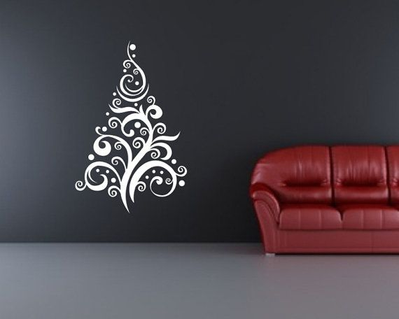 Christmas Tree Style C Removable Vinyl Wall Decal Christmas Tree - Custom vinyl wall decals christmas