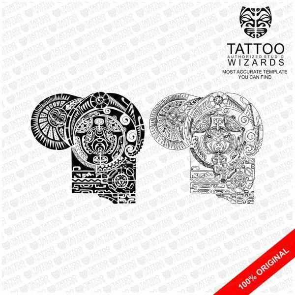 The Rock Tattoo Template Tattoo Wizards | www.tattoo-wizards.com ...