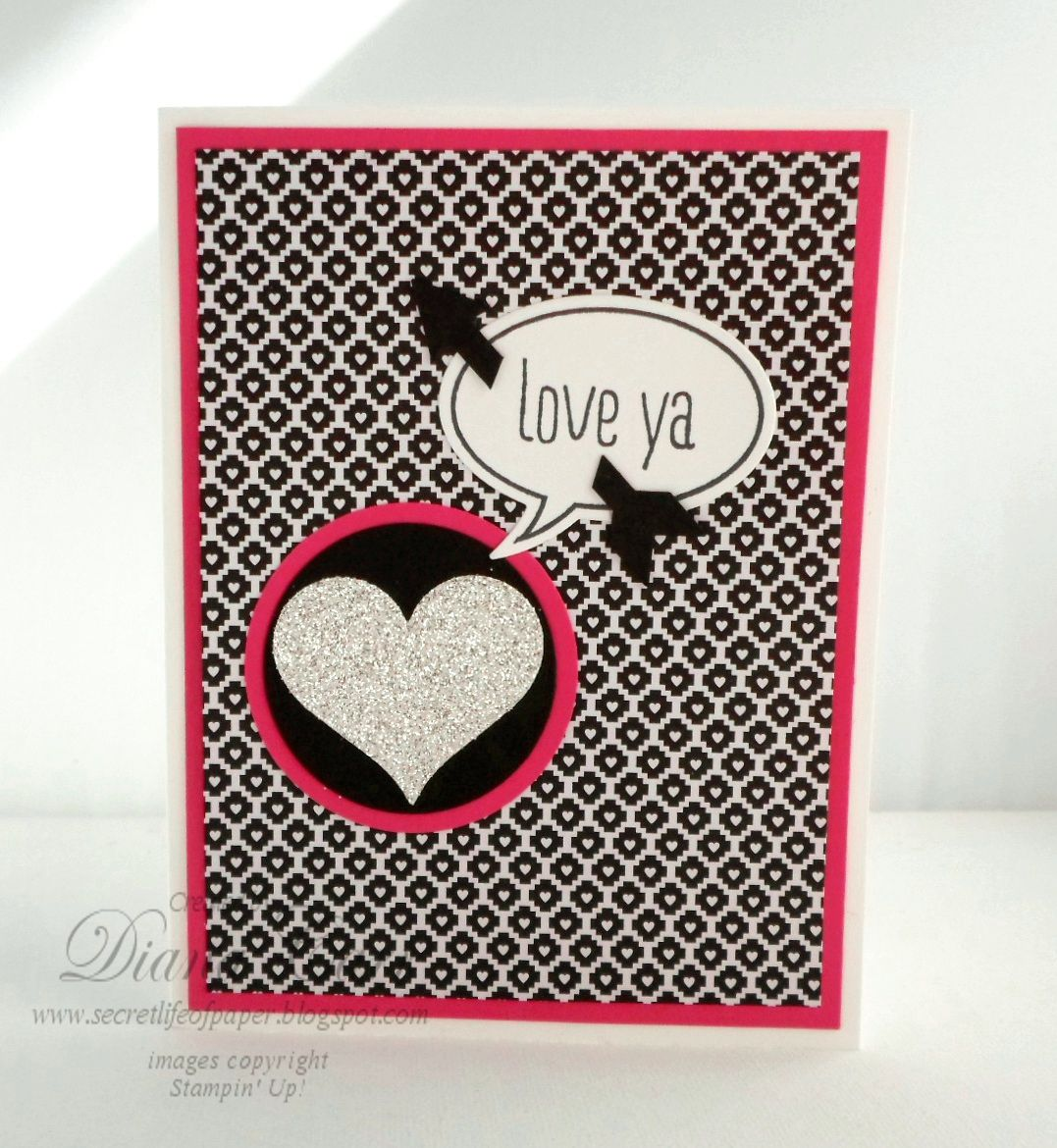 Stampin Up Just Sayin Card with Word Bubble Framelits  Cards