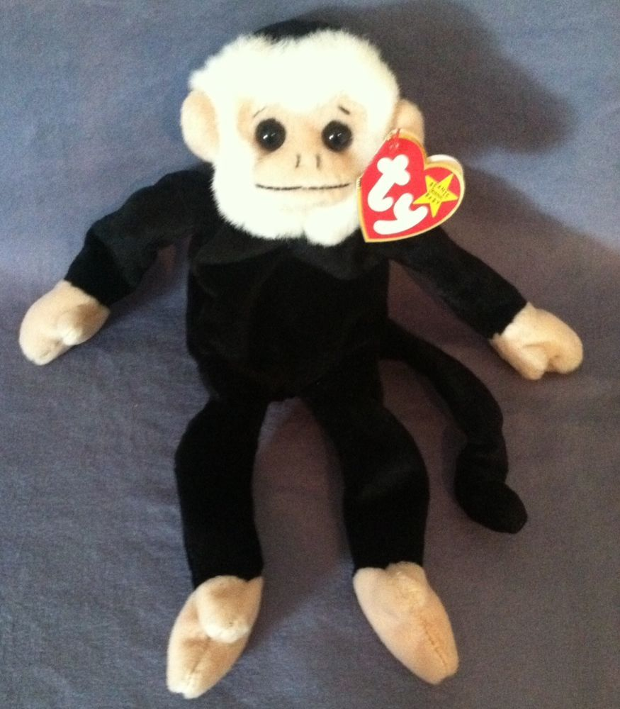 Ty BEANIE BABY - MOOCH the Spider Monkey -RETIRED SEVERAL TAG ERRORS ... d23498b8d81c