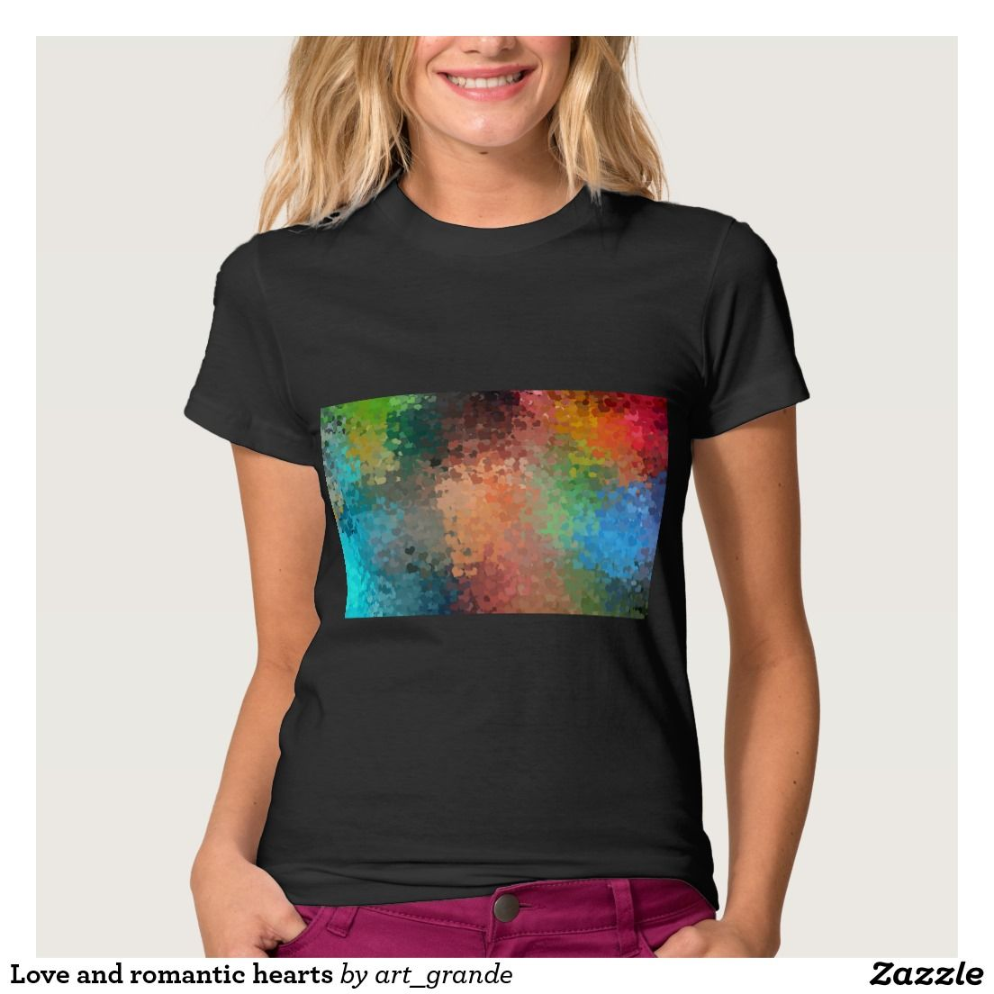 Love and romantic hearts t-shirt