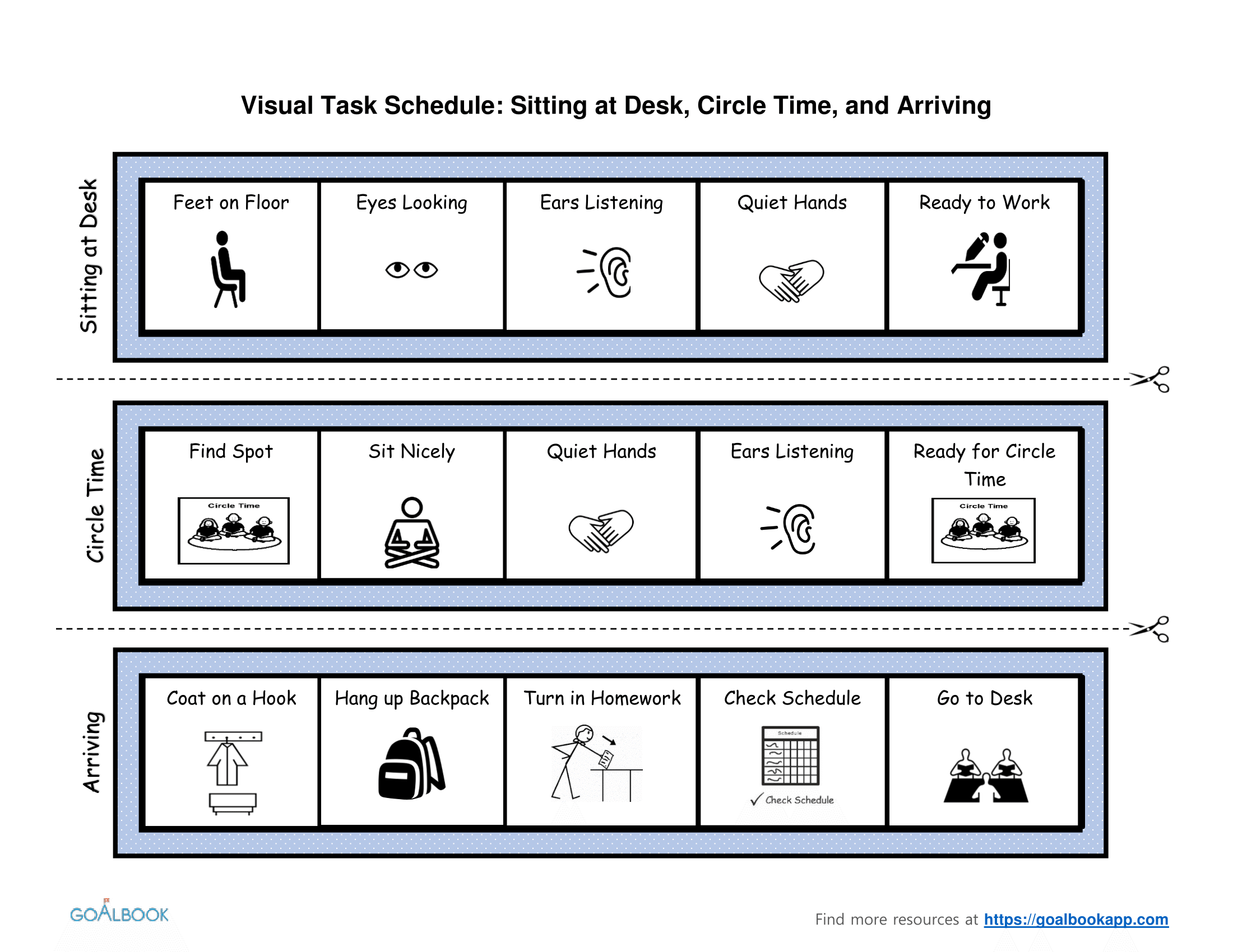 Classroom Activities Visual Task Schedules