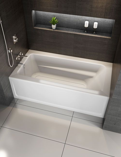 Signature Rectangle Skirted Bath With Armrests Bathtub Remodel Soaking Bathtubs Luxury Bathroom Master Baths