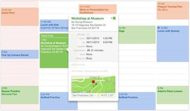 OS X Mavericks : les 10 nouveautés à retenir - Calendrier