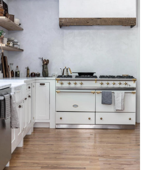 French Kitchen Stove: Lacanche Range In Ivory & Brass