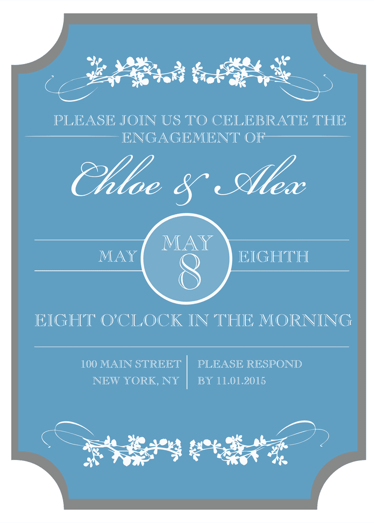 Send a Free, Printable Engagement Party Invitation | Engagement ...