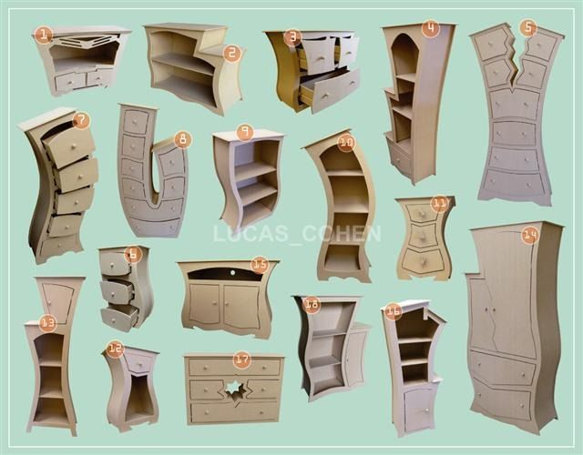 muebles en falsa escuadra | muebles divertidos | Pinterest