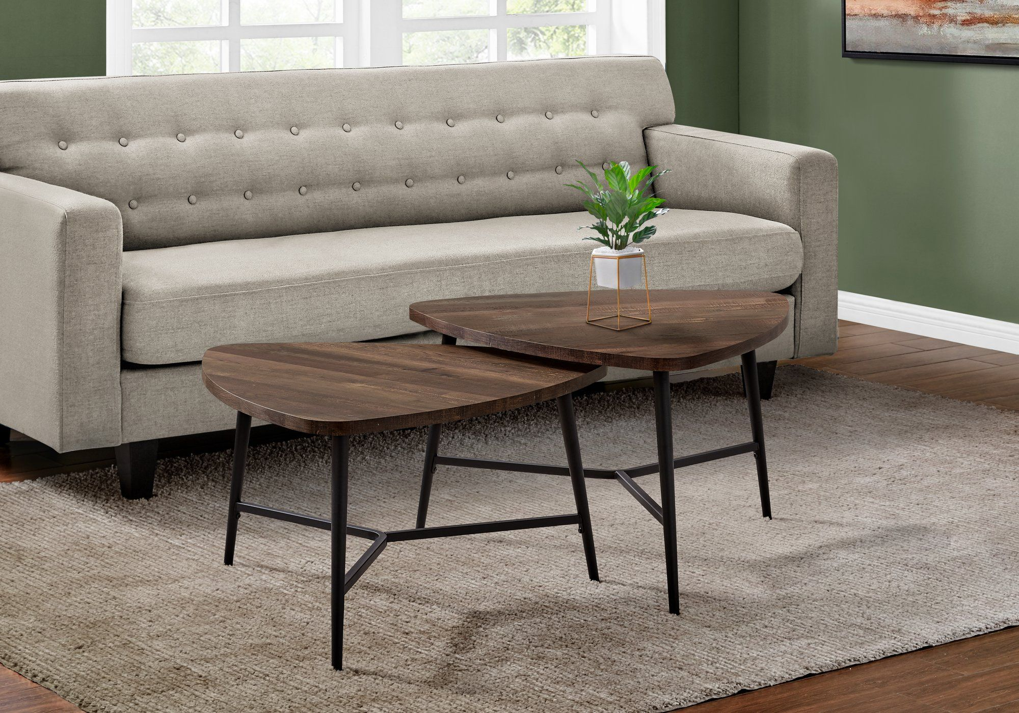 Black And Brown Mid Century Coffee Table Pair Coffee Table Nesting Coffee Tables Mid Century Coffee Table [ 1400 x 2000 Pixel ]