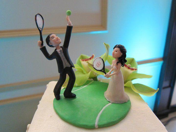 Cake Topper By Dollover On Deviantart Tennis Wedding Cake Toppers Tennis Cake
