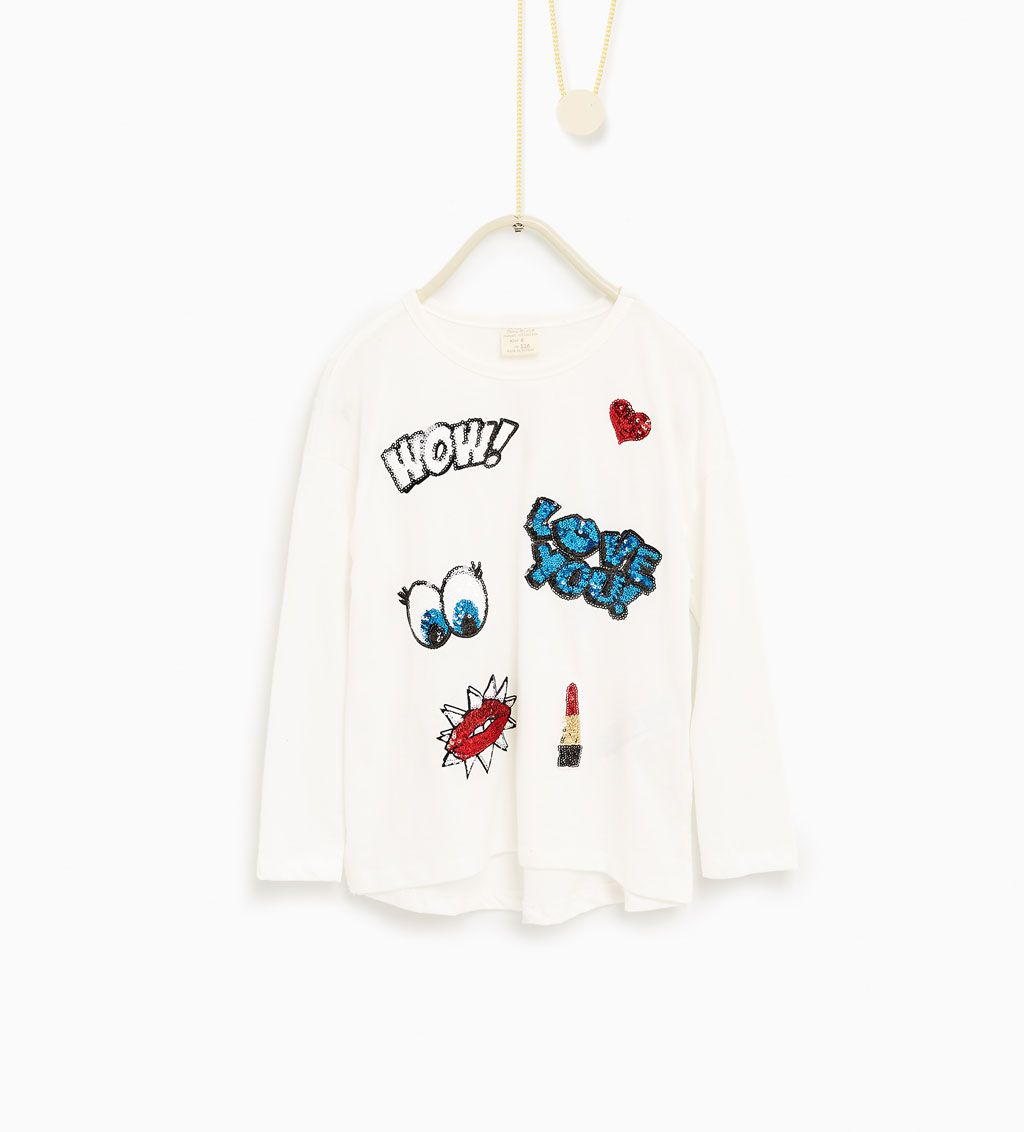 Image 1 of Sequinned top from Zara