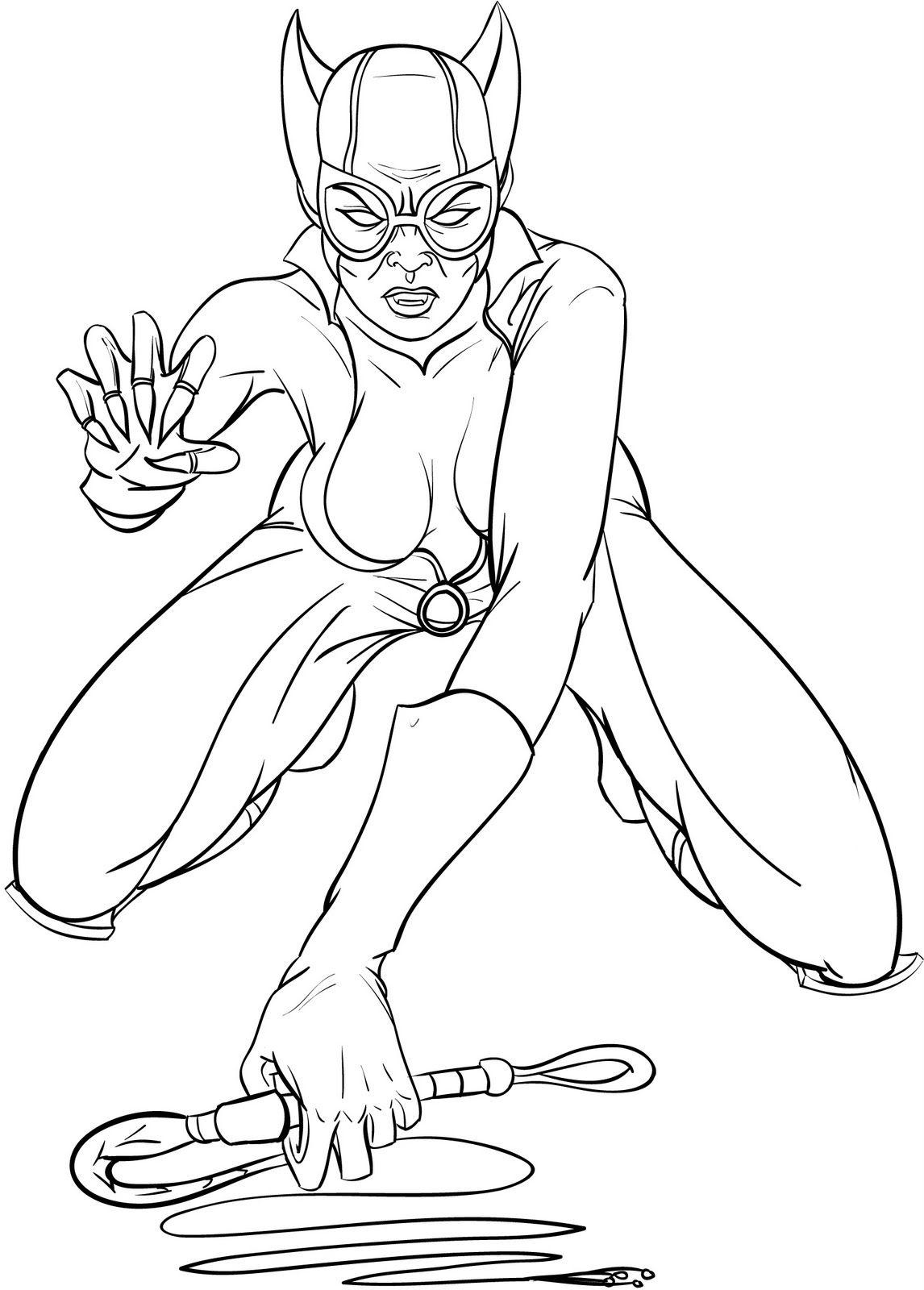 Catwoman Coloring Picture For Kids Coloring Pages