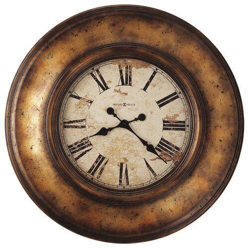 Oversized Copper Bay 75cm Wall Clock Howard Miller Big Wall Clocks Copper Wall Howard Miller Wall Clock