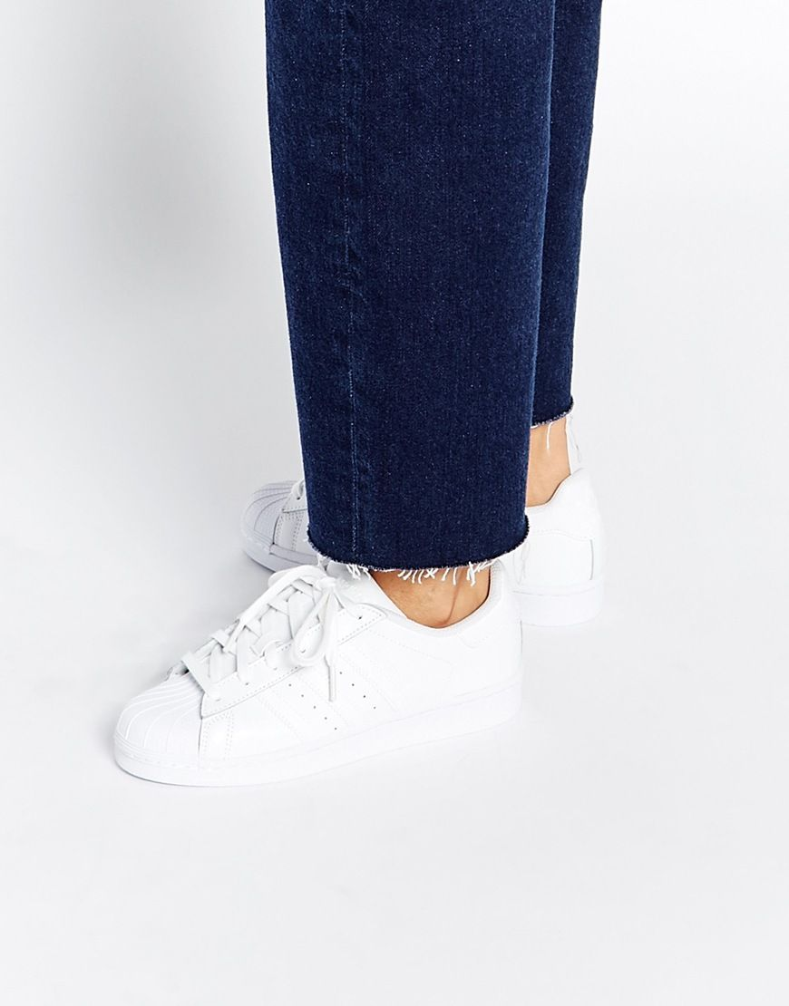 best sneakers 94593 a6bf2 adidas+Originals+Superstar+Foundation+White+Trainers