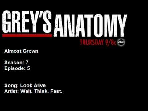 705 Wait. Think. Fast. - Look Alive. From Grey's Anatomy Season 7 episode 5. Almost Grown
