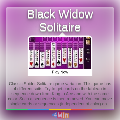 Black Widow Solitaire Game Free Online Games In 2020 Solitaire Card Game Solitaire Games Solitaire Cards