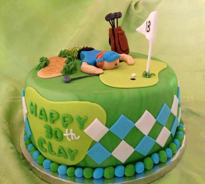 Golfer Birthday Cake cakepinscom ADULT birthday party Pinterest