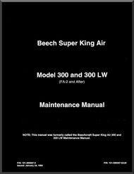 beechcraft super king air 300 and 300 lw aircraft maintenance manual rh pinterest com king air maintenance training manual king air 200 series maintenance manual