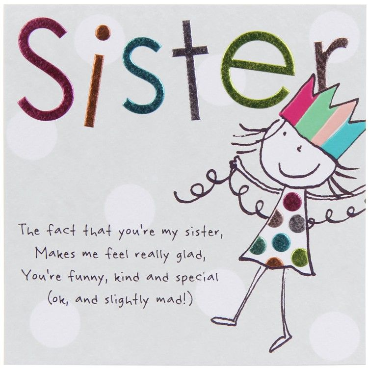 Paperlink Tinklers SISTER Birthday Card