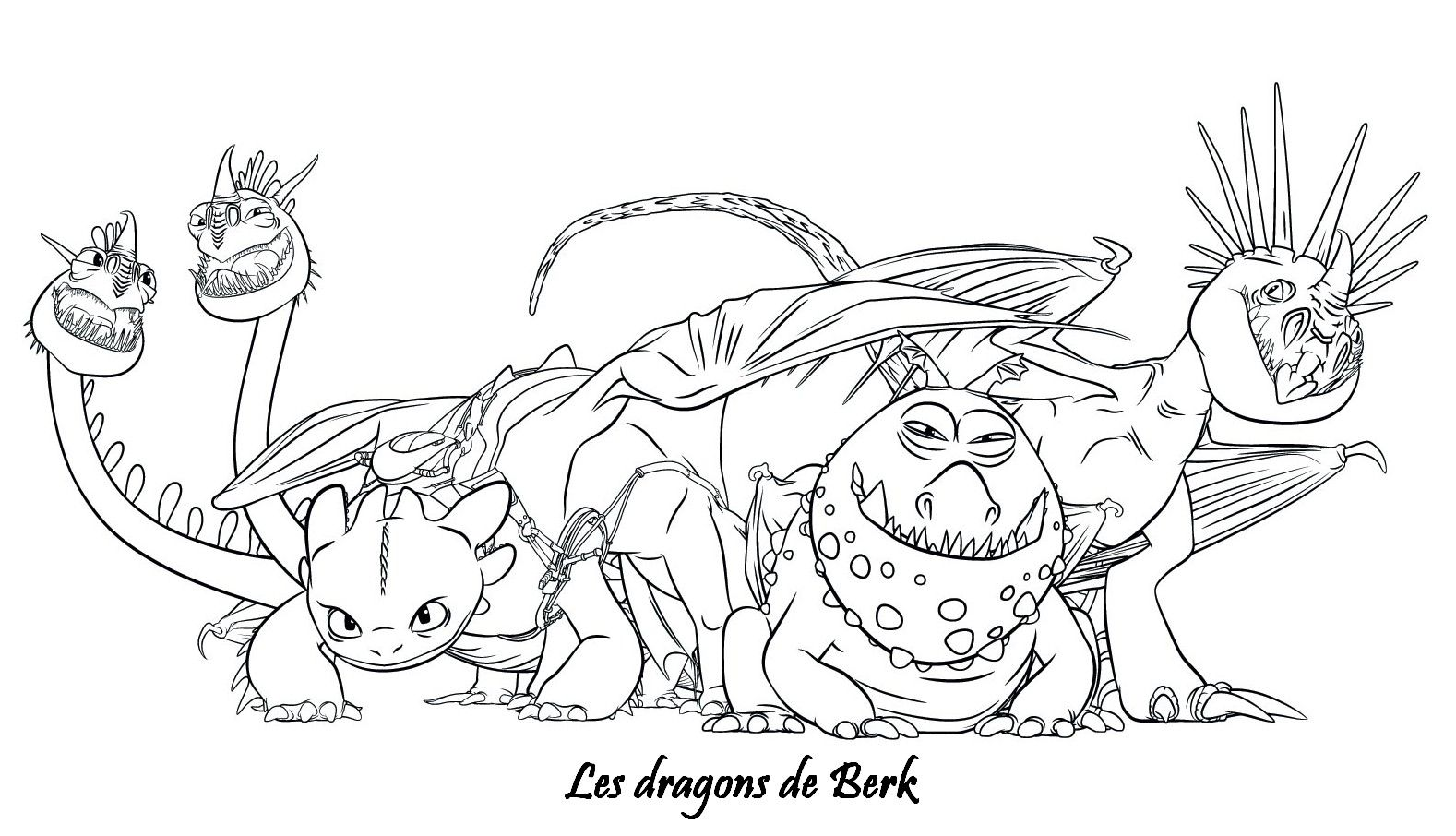 Coloriage dragons 2 les dragons de berk coloriage - Coloriages de dragons ...