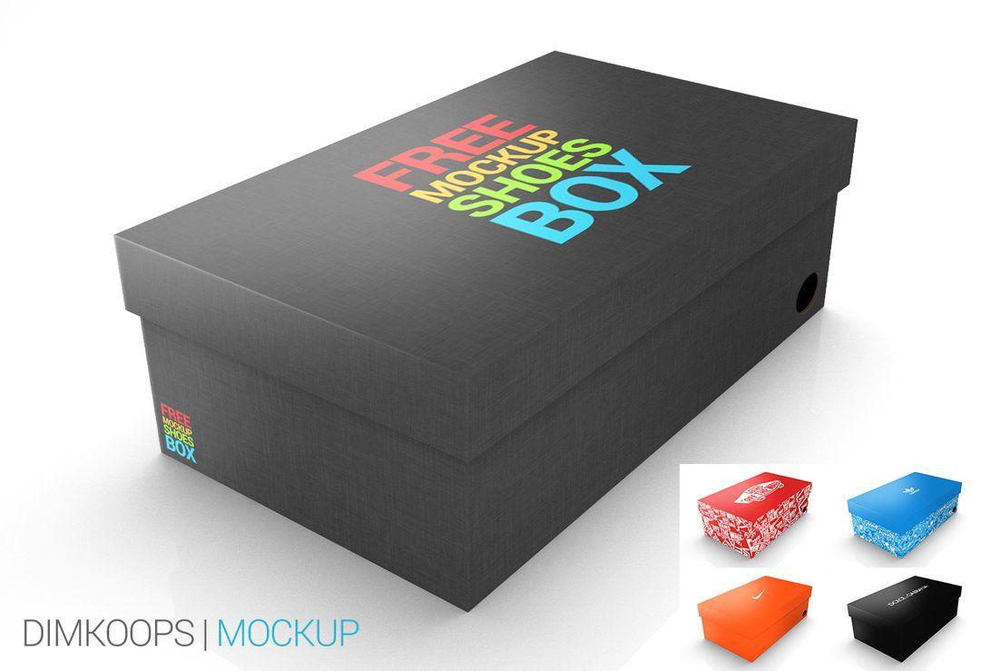Download Mockup Shoes Box By Dimkoops On Deviantart Box Mockup Box Design Templates Packaging Design