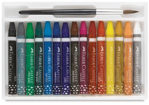 Faber Castell Set Of 15 Watercolor Crayons With Brush Set Of 15