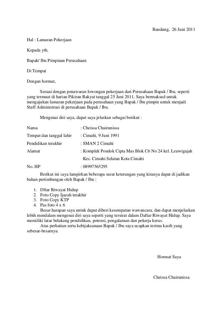 9 Contoh Surat Lamaran Kerja Fresh Graduate Desain Cv Cv Kreatif Surat