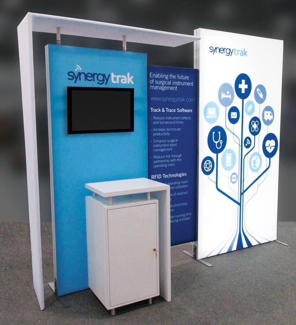 Expo Stands Kioska : Exhibitor synergy health plc synergytrak design