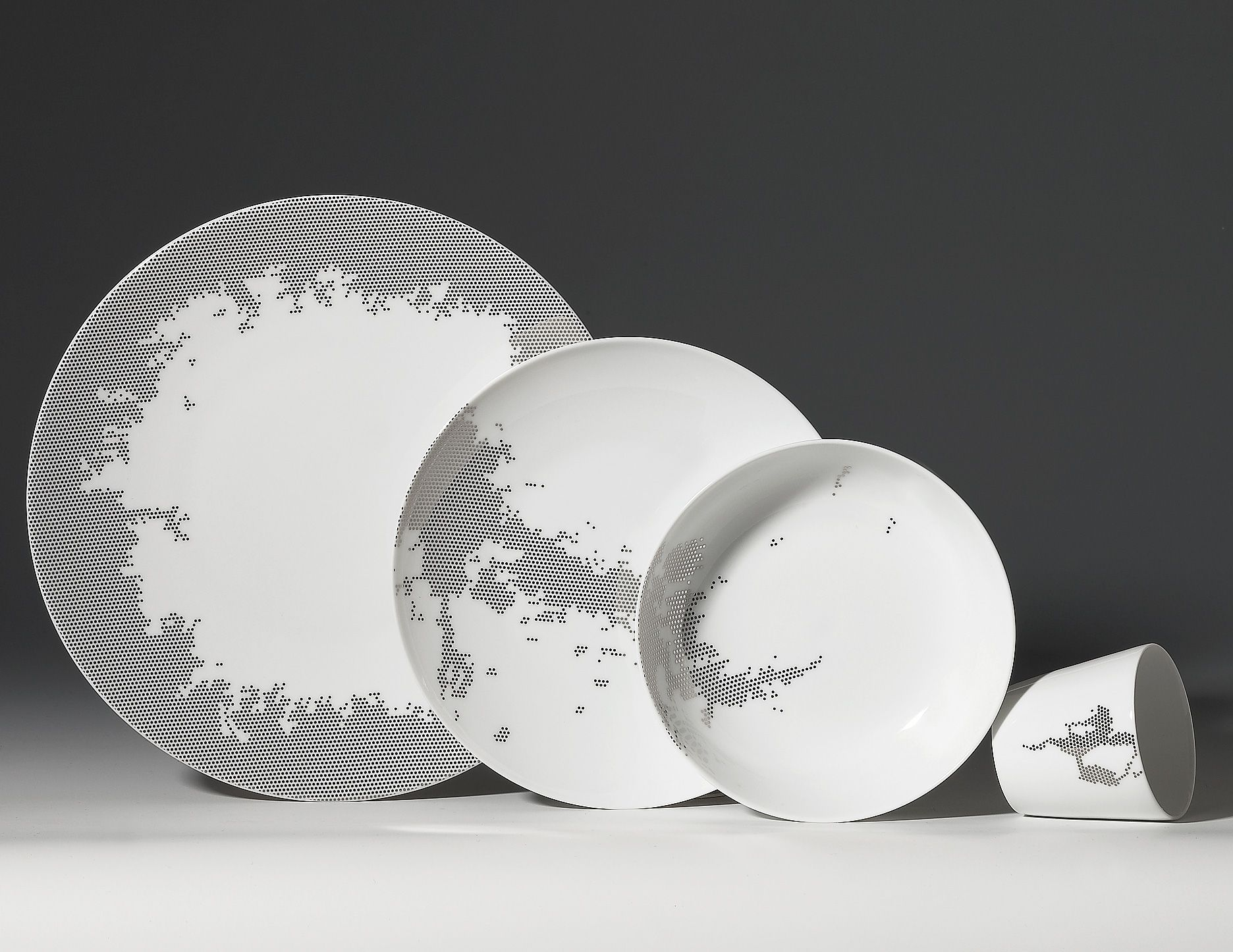 luxury porcelain tableware with modern design by non sans raison  digsdigs. luxury porcelain tableware with modern design by non sans raison