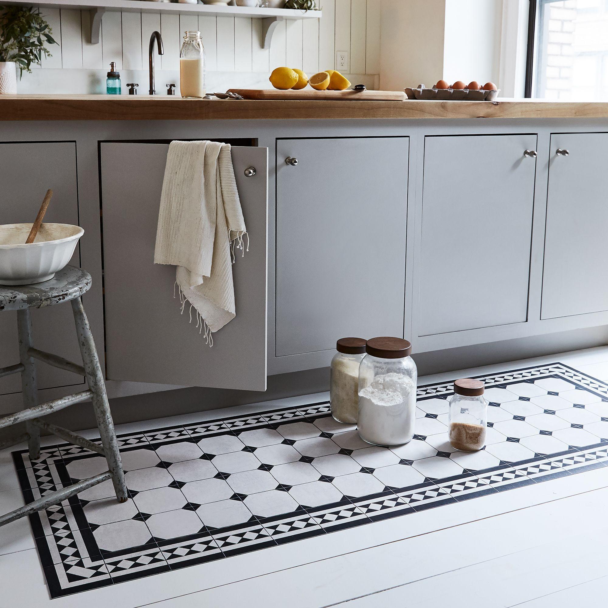 Food9 Parisian Vinyl Floor Mat, Kitchen Runner, 9 Sizes in 9091 ...
