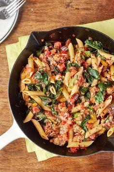 Photo of Recipe: Turkey and Greens Skillet Pasta