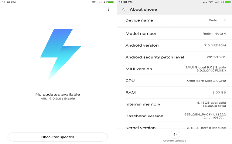 Download And Install MIUI 9 0 3 0 Global Stable ROM On Redmi