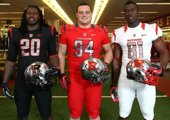 New College Football Uniforms 2012 2013 Season Sportsgrid Football Uniforms Rutgers Football Nfl Football Uniforms