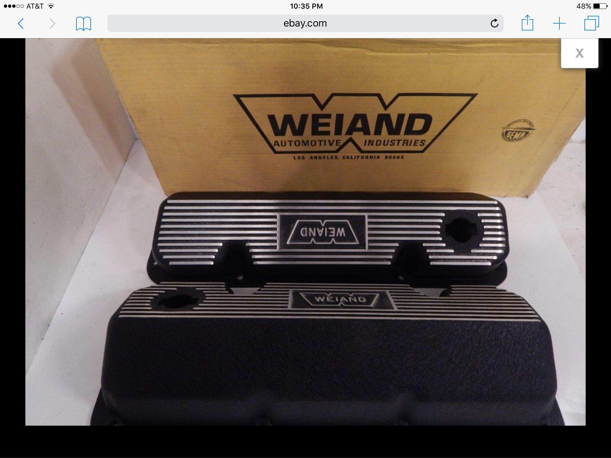Weiand Aluminum Finned Valve Covers Nos Vintage Ford Boss 302 351c
