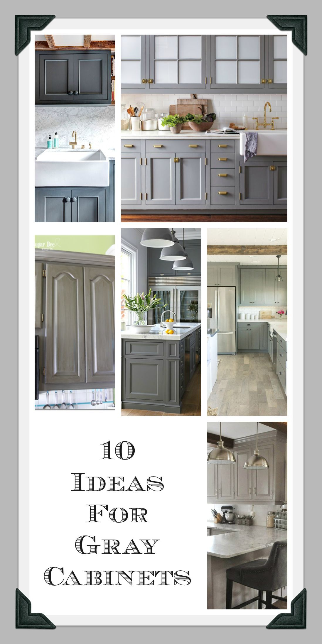Iuve been obsessed with gray cabinets lately and canut wait to paint