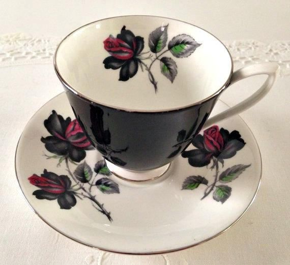Royal Albert Tea Cup and Saucer Masquerade Teacup Rose #teacups