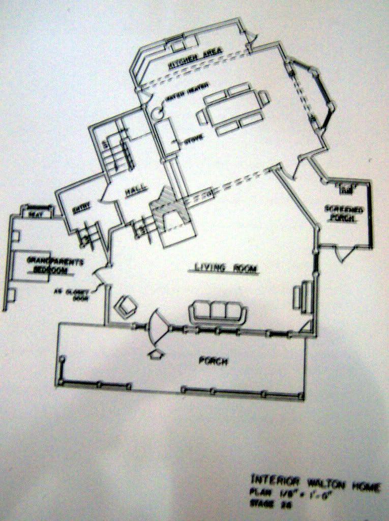 love this floor plan The Waltons Pinterest – Floor Plan Of The Waltons House