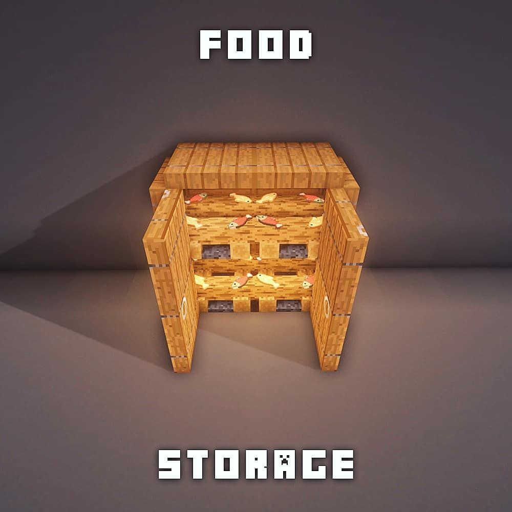 "Fresh Minecraft Builds on Instagram: ""What's you favorite food? Xx #minecraft"" #minecrafthouses"
