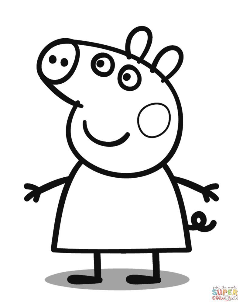 Cute Pig Coloring Pages Ideas Huge Collection Peppa Pig