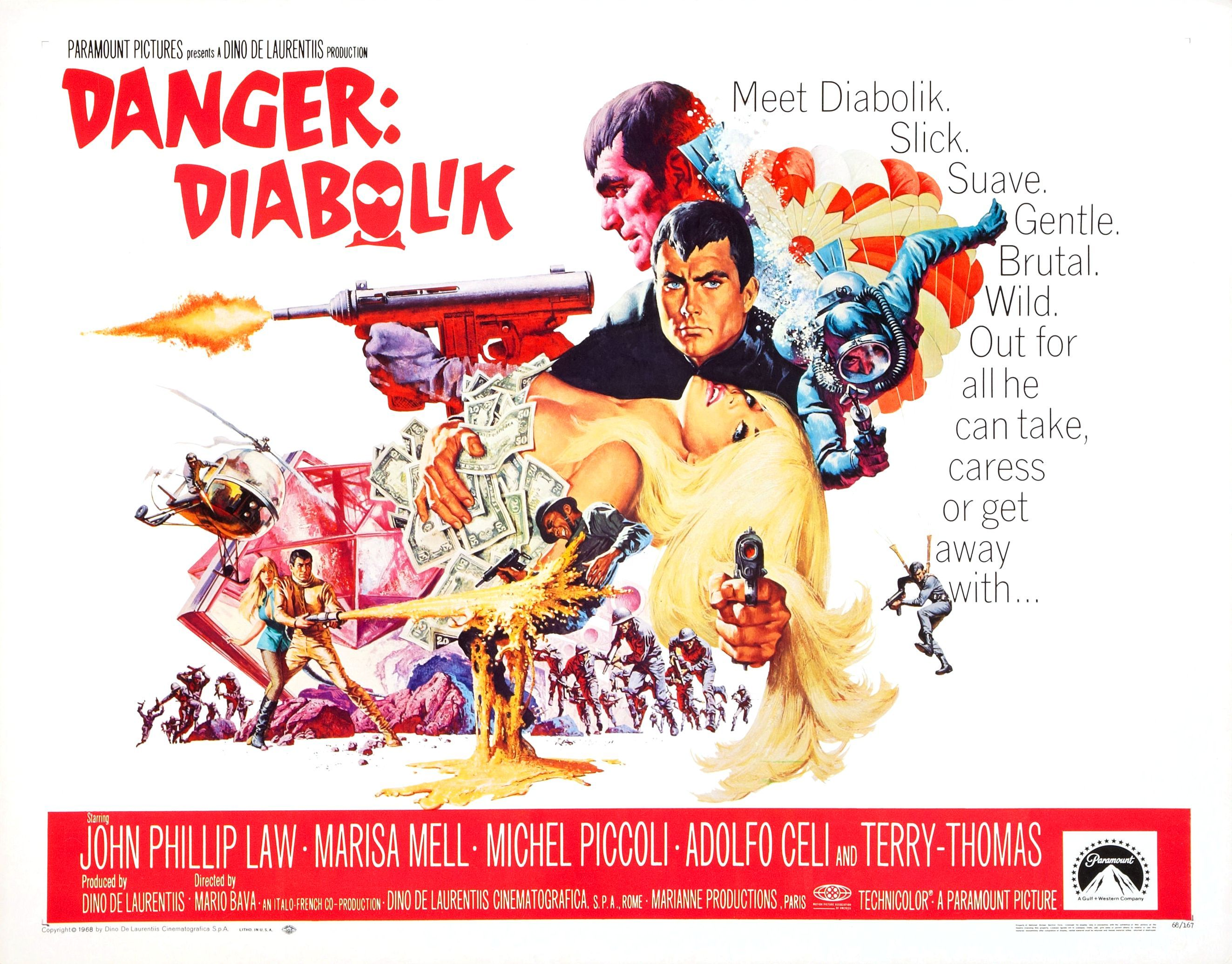 Danger: Diabolik, 1968, Directed by Mario Bava (With images ...