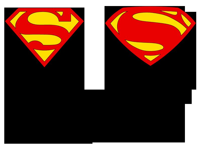 Superman Symbol Logovectors Stencil Silhouette Design