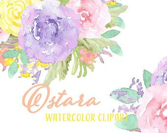 Imágenes Prediseñadas acuarela / / flor Clip Art por intothethicket