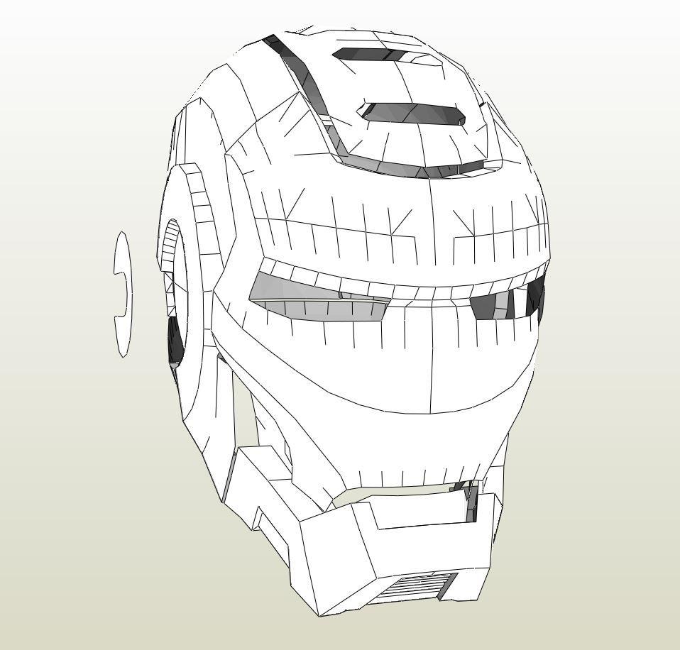 Papercraft .pdo file template for Iron Man - War Machine Full Armor ...