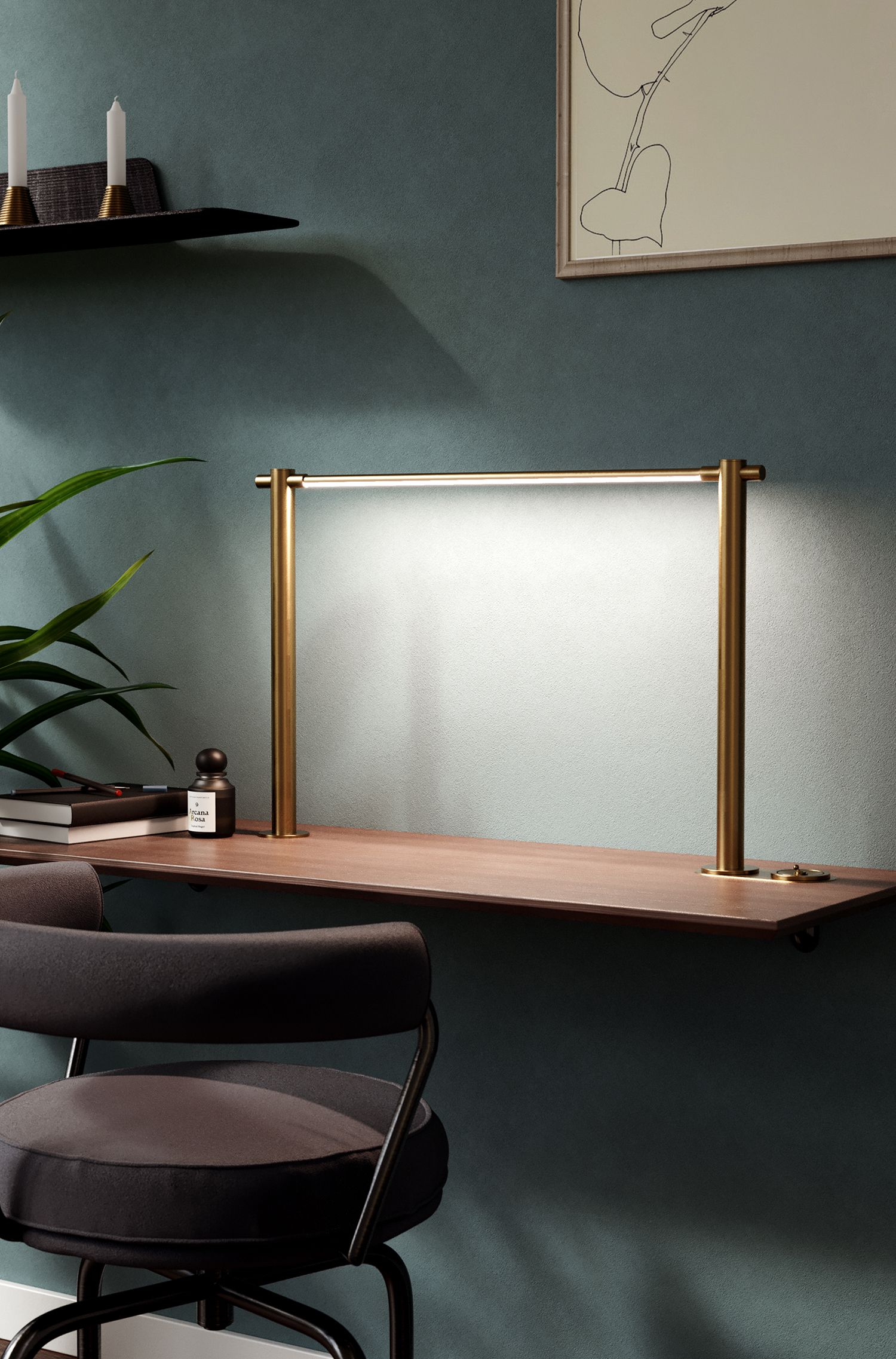 Desk Lighting Options That Help Reduce Footprint Clutter