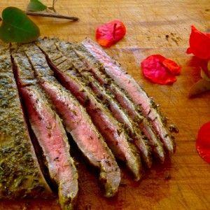 Grilled Mediterranean Marinated Flank Steak #recipesforflanksteak