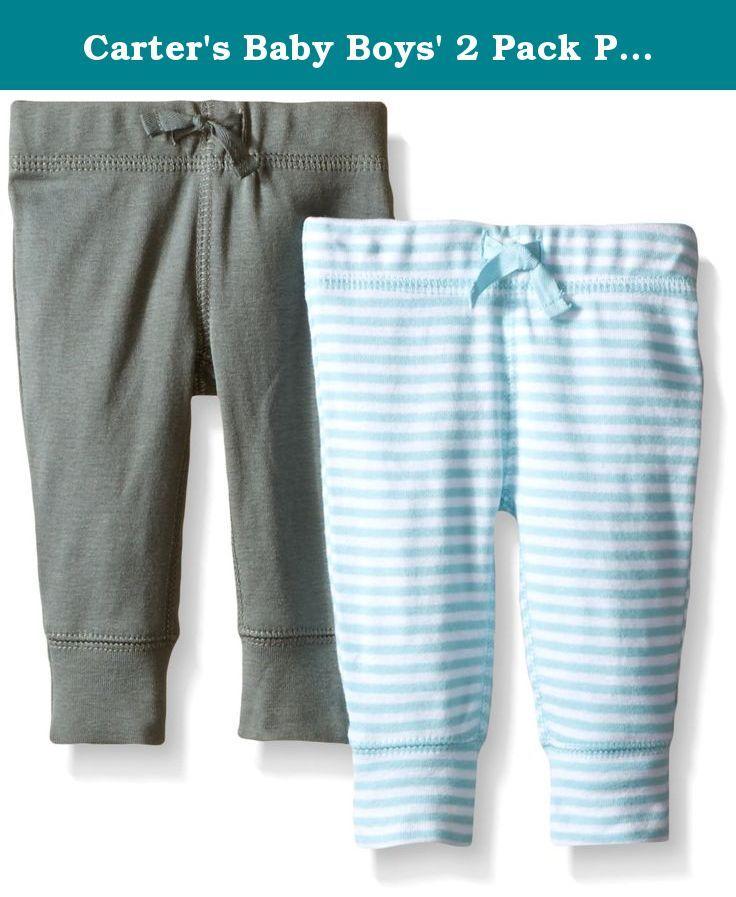 e8f9fe189 Carter s Baby Boys  2 Pack Pants (Baby) - LightBlue - Newborn ...